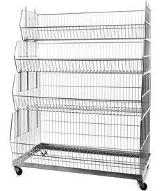 Set of 4 Stacking Display Baskets, Dividers & Plinth (980mm) – Filplastic UK Ltd