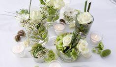 Individuelle Tischdekoration und trotzdem sehr dezent und zueinander passend #hochzeit #twbm #dekoration