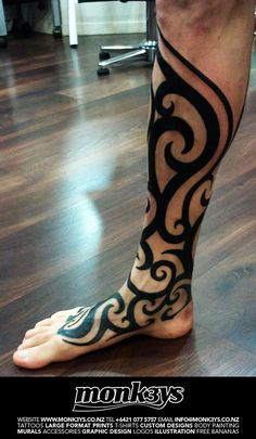 Half Sleeve Tribal Tattoo Design | ... Polynesian / Maori half sleeve and chest plate 4 by ~Monk3ys-Tattoos