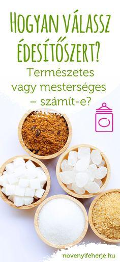 Milyen alternatívák vannak, ha nem akarsz cukrot használni, de szereted az édes ízt? Melyik édesítőszer egészséges, melyiknek mik az előnyei és a hátrányai?  Részletek a cikkben! #novenyifeherje #veganprotein #edes #edesseg #edesitok #cukor #dieta #szenhidrat #aszpartam #szacharin #eritrit #xilit fruktoz #juharszirup #agaveszirup #rizsszirup #kokuszcukor #stevia #sztivia #hogyedesits #mithasználj Protein, Food, Meal, Essen, Hoods, Meals, Eten