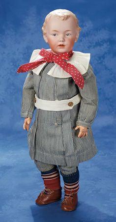 Very Handsome German Bisque Character by Gebruder Heubach circa 1912 Victorian Dolls, Antique Dolls, Costume Garçon, German Boys, Old Dolls, Dollhouse Dolls, Boy Doll, Collector Dolls, Vintage Girls