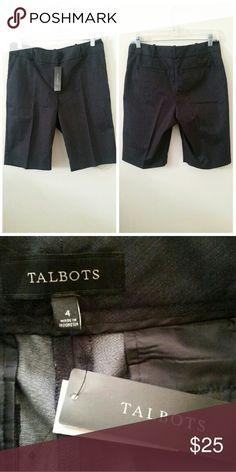 Talbots shorts New shorts/ Not worn  Size 4 Talbots dark gray shorts Talbots Shorts Bermudas