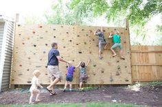 backyard rock climbing wall for kids