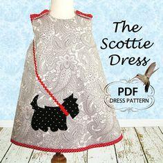 Girls dress pattern Reversible Dress by MyChildhoodTreasures, $6.95