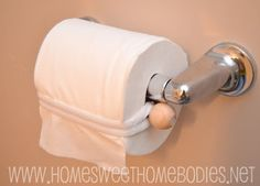 Home Sweet Homebodies: Toilet Paper Roll Saver