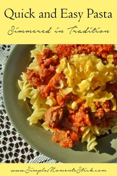 Looking to make a quick and easy pasta recipe? Look no further!!!