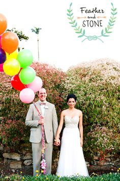 love how happy this groom is...(the balloons are totally fun too)
