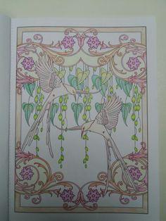Creative Haven Art Nouveau Animal Designs Colouring Books
