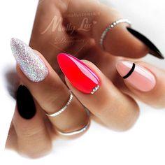 Black Manicure, Party Nails, Nail Photos, All Things Beauty, Simple Nails, Nail Inspo, Cute Nails, Makeup Tips, Beauty Hacks