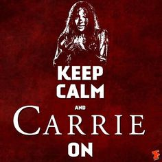 Well said... Carrie Stephen King, Stephen Kings, Stephen King Books, Carrie Movie, Creepy, Scary, Charmed Book Of Shadows, Carrie White, Laugh At Yourself