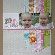 Bella Blvd products mixing and matching. Love that Smile Layout by DT member Jaclyn Rench