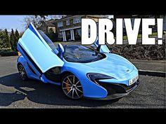 BABY BLUE MCLAREN 650S SPIDER: FIRST DRIVE!!