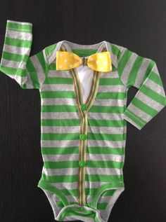 Future #Baylor Bear! // Baby Boy onesie sweater Modern Preppy look