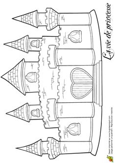 coloriage chateaux dessin 49335 49335 pinterest coloriage