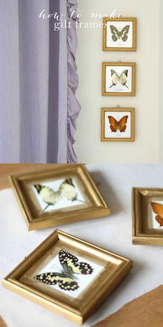 How to make gilt frames