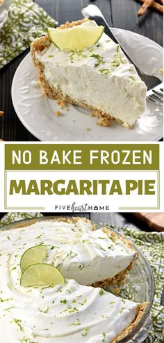 A cool and creamy spring or summer dessert for a crowd! No-Bake Frozen Margarita Pie has a salty-sweet pretzel crust and a frosty filling flavored with fresh lime juice, tequila, and triple sec. Cap o No Bake Summer Desserts, Desserts For A Crowd, Frozen Desserts, Easy Desserts, Easy No Bake Deserts, Margarita Pie, Easy Margarita Recipe, Frozen Margarita Recipes, Frozen Margaritas