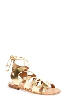 Topshop 'Fig' Cutout Lace-Up Gladiator Sandal (Women) available at #Nordstrom
