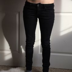 PAIGE skyline skinny. Size 24. PAIGE skyline skinny. Size 24. Black stretchy denim. Like new condition. Bought from nordstroms. Super comfy. No fading, rips or tails. 98% Cotton 2% Elastane. NOT INTERESTED IN TRADING. Paige Jeans Jeans