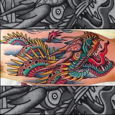 Dragon Tattoo by Shaun Topper. @stoppertattoo #shauntopper #ny