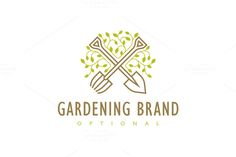 For sale. Only $29 - modern, green, plant, nature, leaf, life, gardening, cross, tool, sustainable, farming, decoration, grow, growing, garden, shovel, harvest, flora, crop, vegetation, sprout, fertile, foliage, cultivating, pitchfork, crossed, organic, soil, logo, design, template,