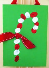 easy christmas crafts for kids to make candy cane finger print painting quick easy and simple