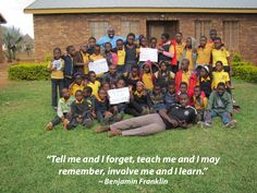 """""""Tell me and I forget, teach me and I may remember, involve me and I learn."""" ― Benjamin Franklin"""