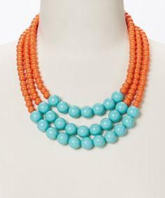 Take a look at this Turquoise & Tangerine Classic Caroline Necklace on zulily today!
