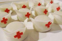 Nurse hat cake pops/ truffles!!!