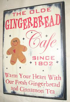 Gingerbread Cafe Sign
