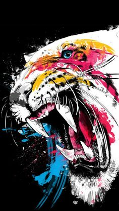 iPhone 5 Wallpapers: #tiger, #roar, #jaws.