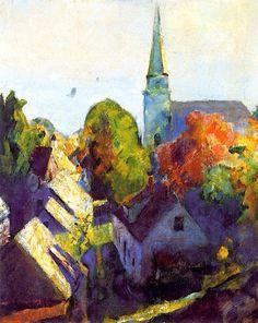 Arthur Beecher Carles (American, 1882–1952) Church Spire (Ellsworth, No. 21) 1918-1922