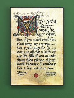 Find Irish wedding gifts for the bride and groom from Ireland and Scotland, Celtic wedding gifts with knotwork plus home decor, welcome plaques and more! Irish Wedding Toast, Wedding Toasts, Irish Celtic, Celtic Art, Celtic Decor, Irish Wedding Traditions, Irish Quotes, Irish Sayings, Scottish Quotes