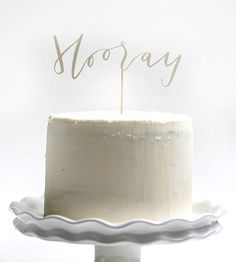 Hooray! Papercut Cake Topper |  Yes Ma'am Paper & Goods