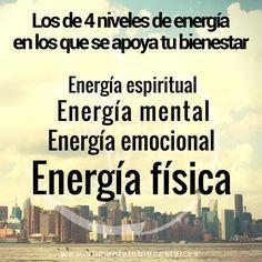 En este artículo, aprende cómo tener más energía y vitalidad: más energía física, más energía mental, más energía emocional y más espiritual. #alimentatubienestar