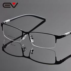 b7bcb361414 Ev Brand Men S Reading Glasses Frame Half Rim Men Buffalo Horn Ev1054