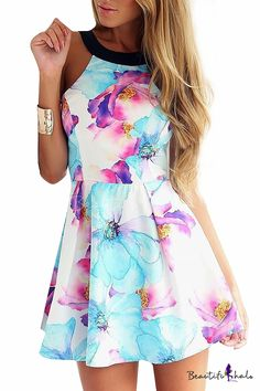 This dress looks like a watercolor painting, and I love the palette~