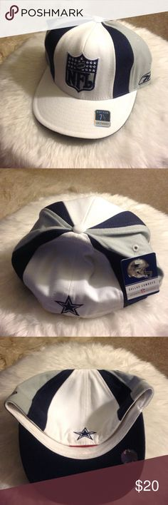 NEVER WORN - NFL Cowboys Hat Great accessory to get ready for football season.  This is fitted cap. Reebok Accessories Hats