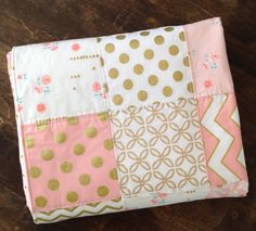 Baby Quilt Girl Baby Quilt Patchwork Baby Quilt Baby Quilt