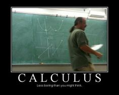 The real reason guys go to calculus classes...chart those curves, those sexy sexy double parabolas!
