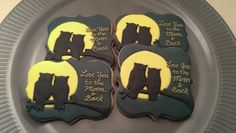 Love You to the Moon and Back Owl Cookies by EZtheBakingOwl #owlcookie #tutorial