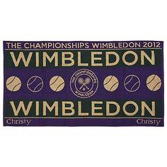Wimbledon Mens Championships Towel 2012 - Green/Purple
