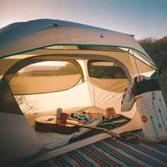 The  TeaHouse Tent by Ticla really lets you camp in style.  It has windows on every wall so you can enjoy the view from within your tent.