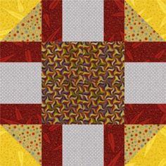 "Snowball Frame Quilt Block Pattern: About the 12"" Snowball Quilt Block Variation"