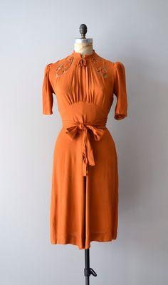 1930s dress / rayon 30s dress / The St. Louis Shag. $245.00, via Etsy.