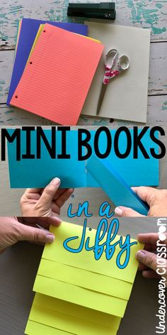 Just grab some paper to fold these quick mini books with your students. They come in really handy for note taking on any topic that can be divided into parts.