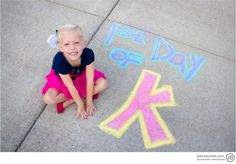 First day of school chalk.