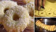 Naše babičky dokázali aj z tých najobyčajnejších surovín vykúzliť chutné sladké dobroty. Vyskúšajte asi 100 rokov starý recept na fantastické Mrázikové kolieska.  Budeme potrebovať: 600 g – hladká múka 200 g – maslo / margarín 200 ml – mlieko 20 g – droždie rum podľa chuti cukor na posypanie Na vylepšenie chuti: citrónová kôra Postup: 1. Trochu mlieka zohrejeme, Sweet Bar, Czech Recipes, No Bake Pies, Desert Recipes, Mini Cakes, Christmas Cookies, Doughnut, Cooker, Cake Recipes