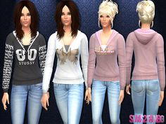 The Sims Resource: 15 hoodie sweatshirt by Sims2fanbg • Sims 4 Downloads
