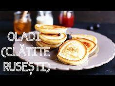 OLADI (CLĂTITE RUSEȘTI) I Rețetă + Video – Valerie's Food Dessert Recipes, Desserts, Pancakes, Sweets, Baking, Breakfast, Youtube, Food, Recipes