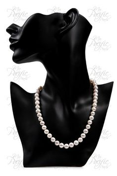 ULTIMATE BRIDAL COLLECTION - 7-8mm White Pearl Necklace with 14K White Gold Filled Clasp $250 #MyPacificPearls